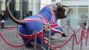 Großbritannien, Börse, London, Bulle, Union Jack