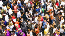 Menschen, Masse, Leute, Menschenmenge, K�pfe