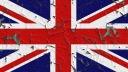 Großbritannien, Flagge, Bröckeln