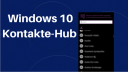Windows 10: So funktioniert der Kontakte-Hub auf der Taskleiste