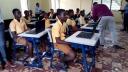 Schule, Laptops, Lehrer, Ghana