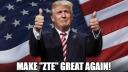 Smartphones, Zte, Präsident, trump, Meme, Rettung