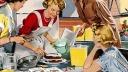 Retro, Kochen, Küche, Backen, Hausfrau