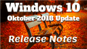 Windows, Windows 10, Oktober 2018 Update