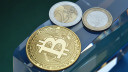 Bitcoin, Geld, Kryptowährung, Euro, Münzen