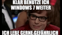 Microsoft, Windows 7, Support, Support-Ende, Austin Powers