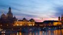 Dresden, skyline, Fluss, Altstadt