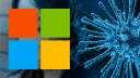 Microsoft, Logo, Coronavirus, Covid-19