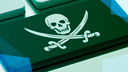 Filesharing, Piraterie, Tastatur, Filesharer, Piracy, Softwarepiraterie, Totenkopf, Taste