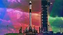 DesignPickle, Weltraum, Raumfahrt, Spacex, Rakete, Spaceship, Falcon