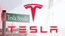 tesla, Tesla Motors, Fabrik, Gigafactory, Grünheide, Nevada, Schild, Gigafactory 4, Giga Berlin, Tesla Fabrik, Freienbrink, Tesla Brandenburg, Straße, Straßenschild