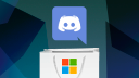 Microsoft, Logo, Microsoft Corporation, Kaufen, Discord, Einkauf, Buy, Microsoft Logo, acquire, M&A, merge and acquisition, Discord-Messenger, Discord Logo, Tüte, Shopping Bag