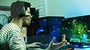 Gaming, Spiele, Games, Computer, Stockfotos, Gamer, Computerspiel, pc-spiel, Computerspieler, Profi-Gamer, RTS, Spaß, Fun