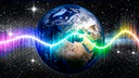 Weltraum, Flash, Raumfahrt, Nasa, Weltall, Energie, Strom, Funk, Umwelt, Erde, Planet, Umweltschutz, Klimaschutz, Welt, Klimawandel, Sterne, Temperatur, Blitz, Earth, Globus, Erderwärmung, Klimaerwärmung, Sternenhimmel, Nachthimmel, Sternschnuppen, Planet Erde, Farbverlauf, Wellen, Funkwellen, Regenbogen, Sternhimmel, Radiowellen