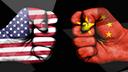 DesignPickle, Usa, Huawei, China, Handel, Sanktionen, Handelskrieg, Versus, Fahne, Handelsverbot, vs., VS, US, America, flag, Huawei vs. USA, Huawei versus USA, China vs. USA, USA vs. China, Handelsstreit, Chinesisch, Handelsabkommen, Trade, Faust, Boxer, Fist