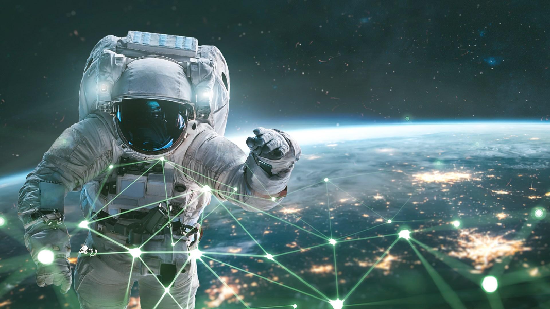 Weltraum, Nasa, Raumfahrt, Weltall, Satellit, Erde, Vernetzung, Planet, Geodaten, Satelliten Internet, Astronaut, Space, Astronauten, Weltraumtouristen, Weltraumspaziergang, Weltraumanzug, Spacesuite