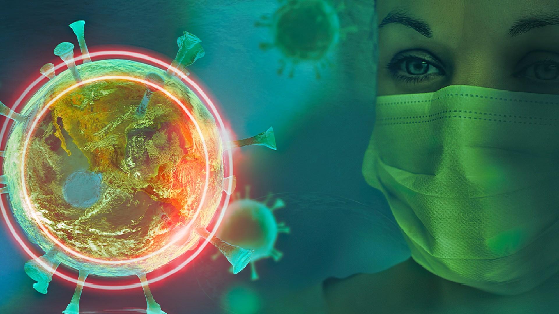 Virus, Coronavirus, Corona, Covid-19, Coronakrise, Forscher, SARS-CoV-2, BioWare, Corona-Virus, Pandemie, Covid-2019, Biologie, Covid, Covid19, Covid-19-Tracker, Biohacking, Zelle, Krank, Viruszelle, Grippe, SARS, Erkrankung, Pandemic