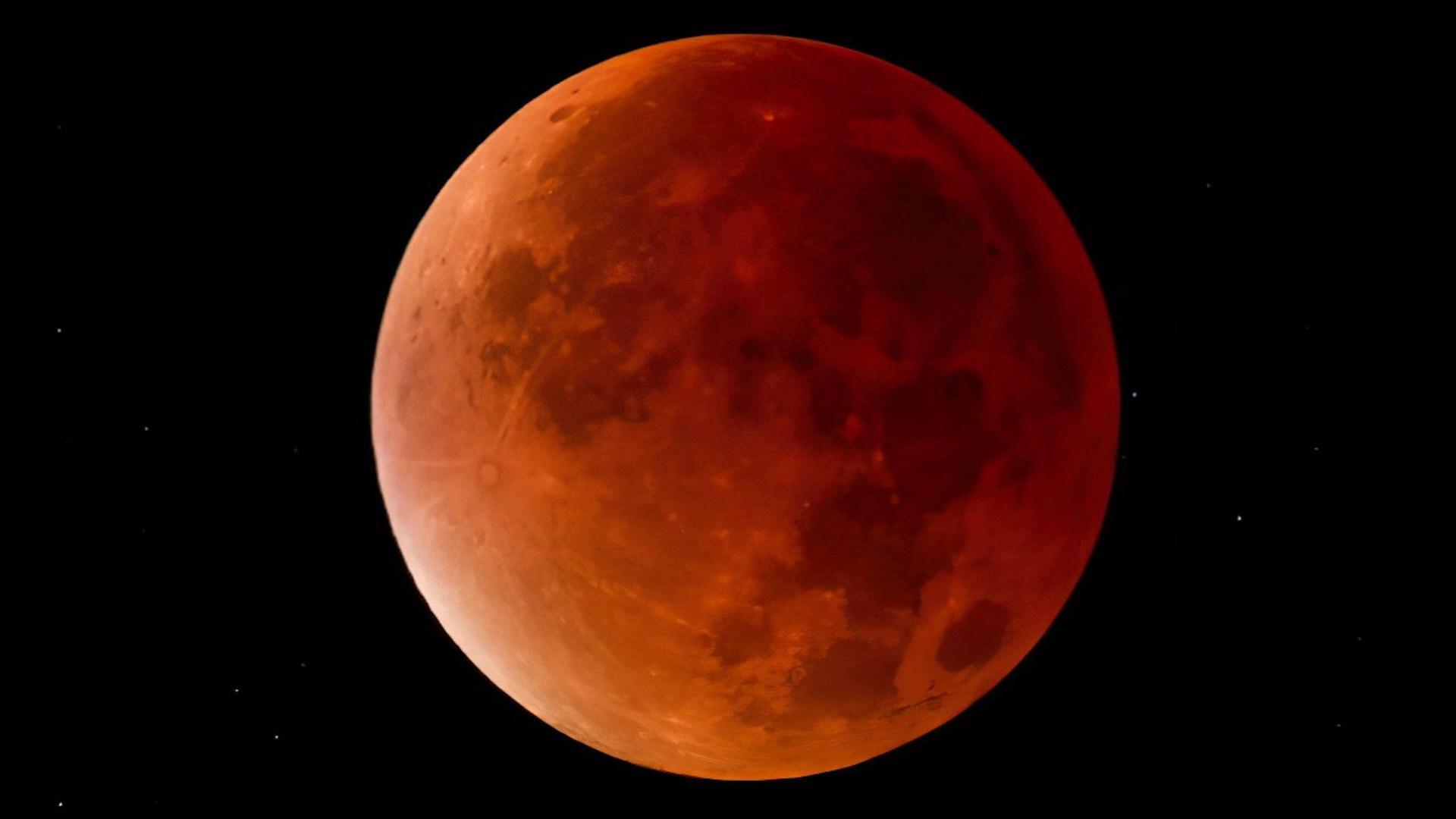 Mond, Mondfinsternis, Schatten, Blutmond, Finsternis