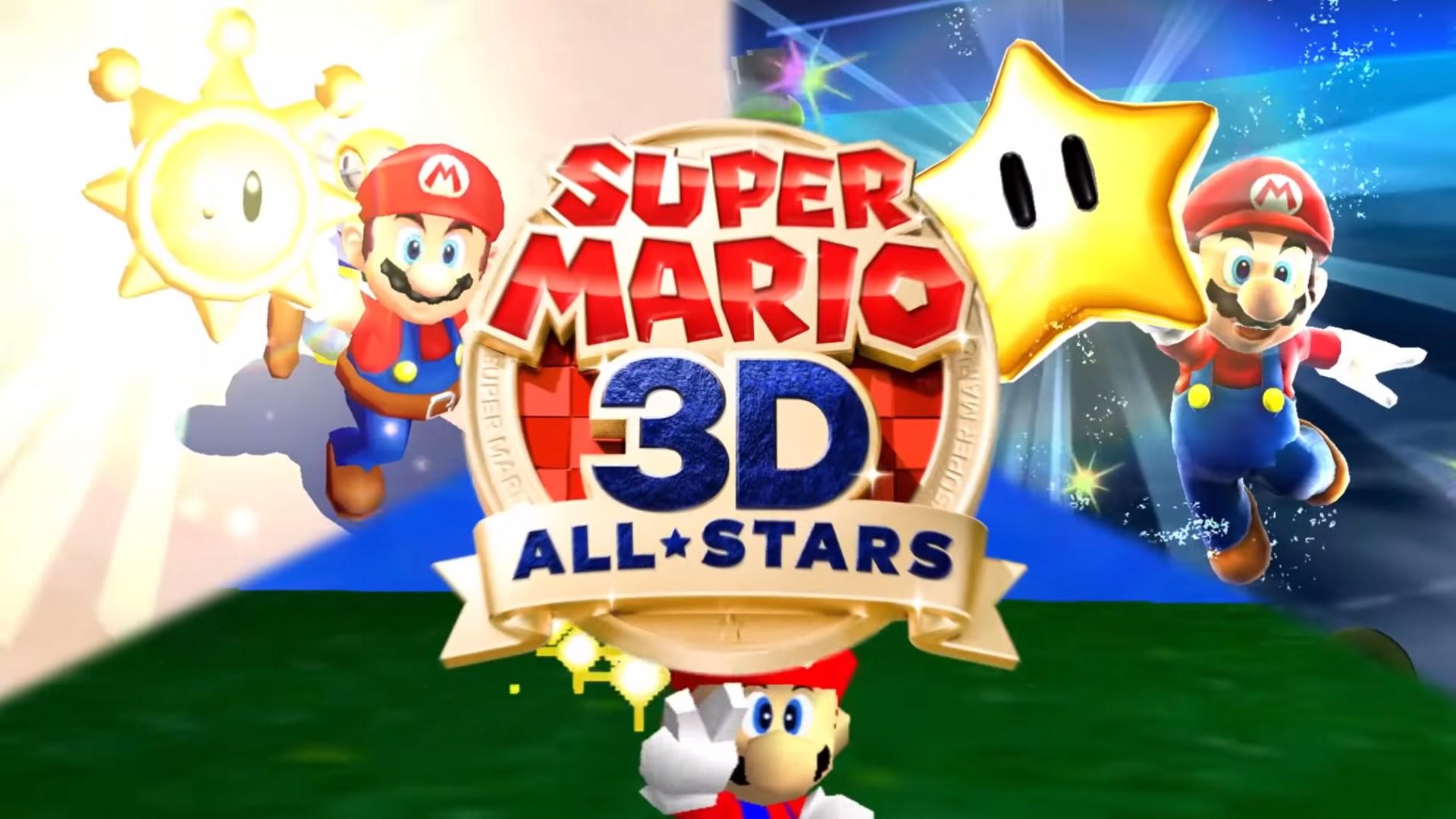 Nintendo, Nintendo Switch, Super Mario, Remake, Mario 3D All-Stars, Mario 64, Mario Sunshine, Mario Galaxy