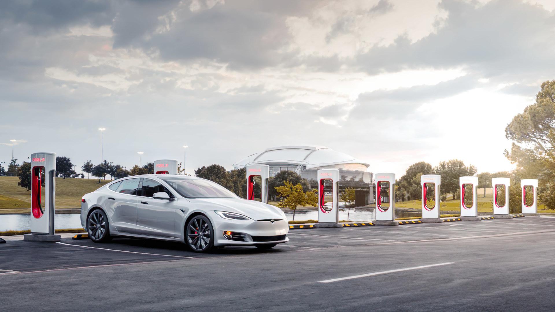 Elektroautos, tesla, Ladestation, Ladesäule, Supercharger
