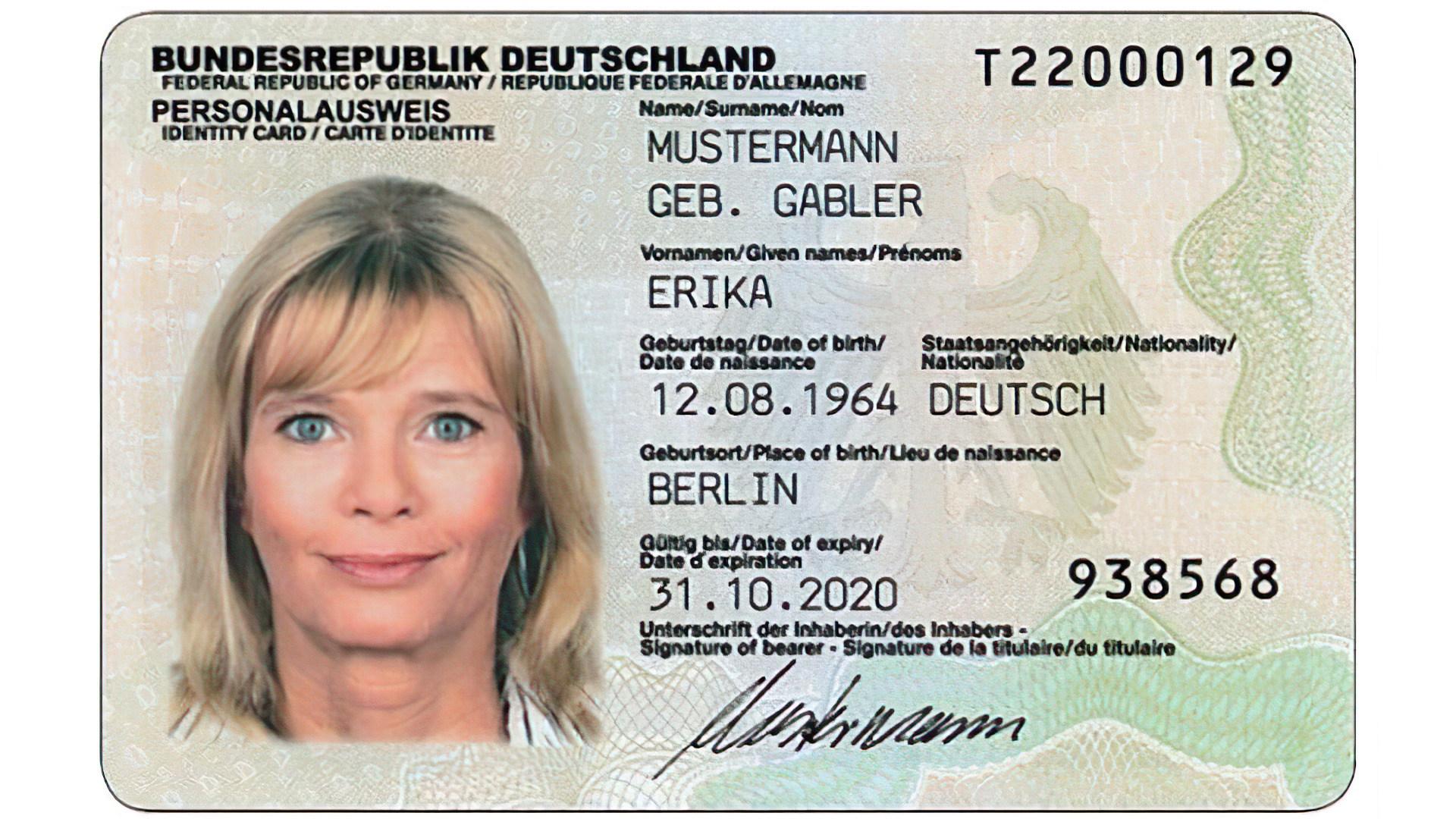 Deutschland, Personalausweis, id