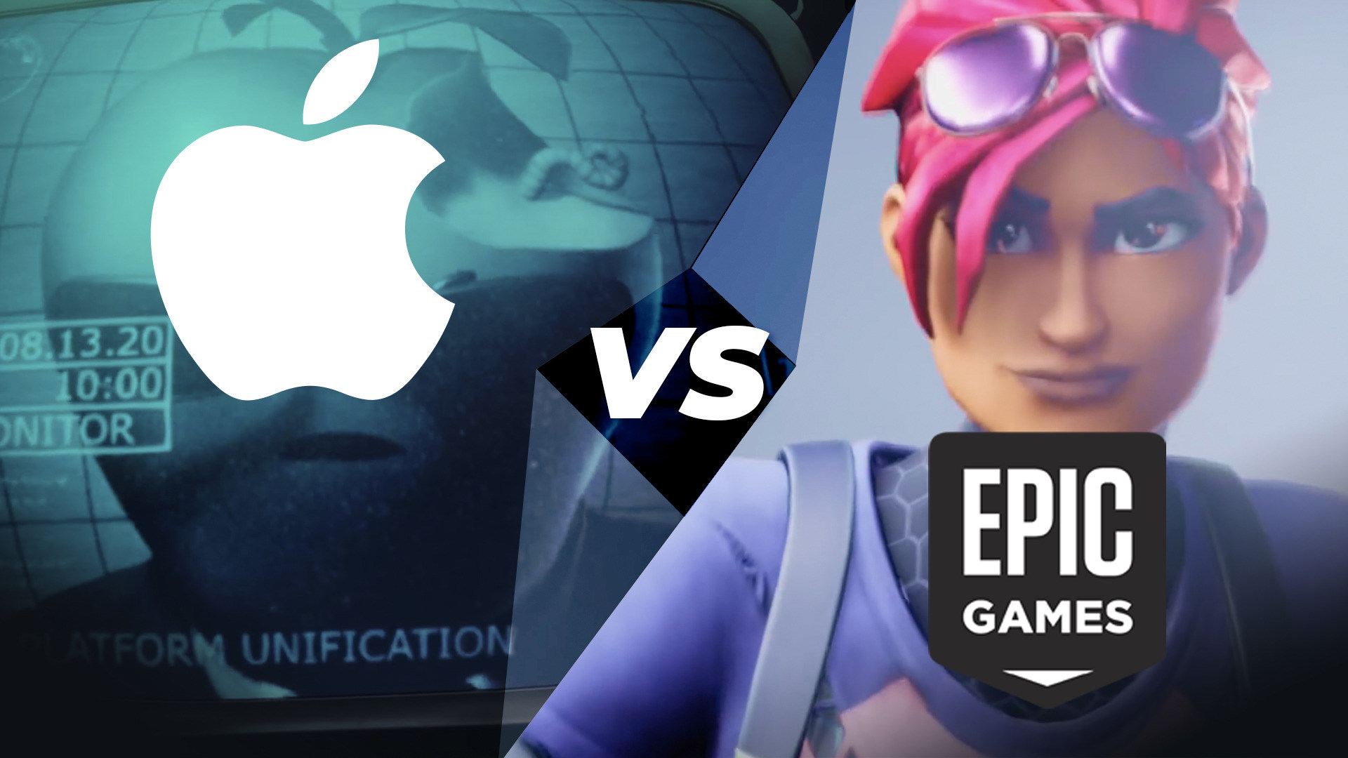 Apple, Epic Games, Epic Games Store, Fortnite, Epic, Games Store, Videospiel Charaktere, Epic vs Apple, Apple vs Epic, 1984, Fortnite Battle Royale, Mr. Apple