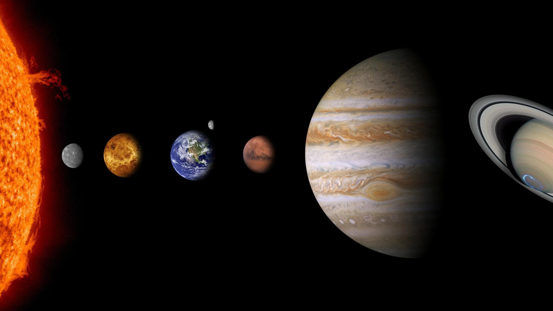 Saturn, Mars, Erde, Sonnensystem, Planeten, Venus, Jupiter, Merkur