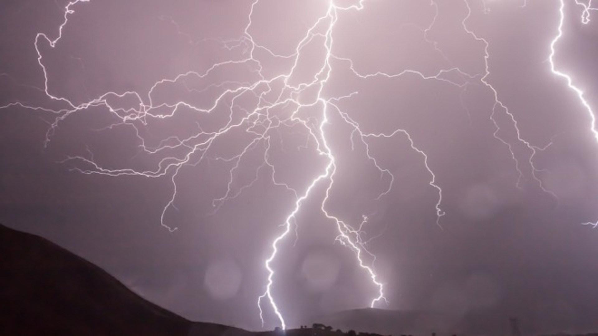 Blitz, Himmel, Gewitter, dunkel, Blitze
