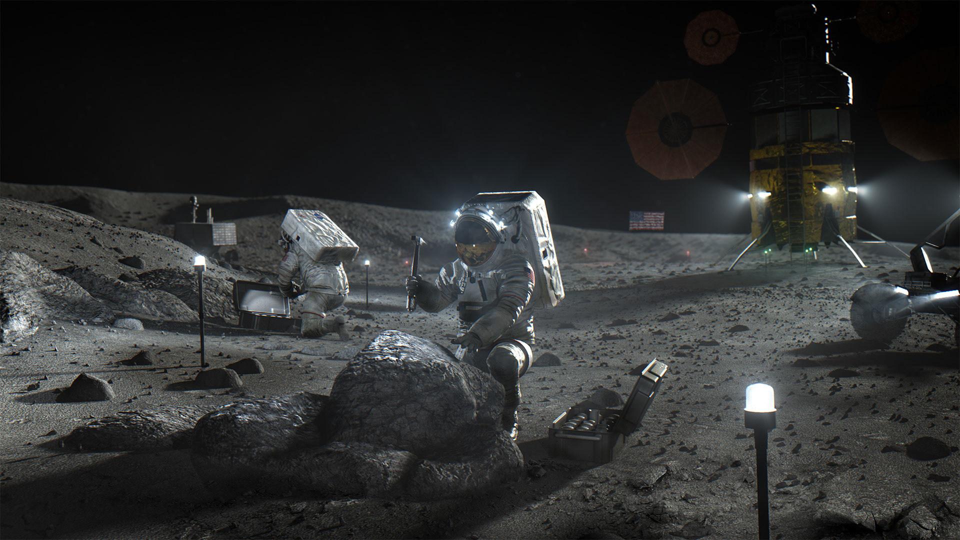Nasa, Mond, Mondlandung, Astronaut, Artemis