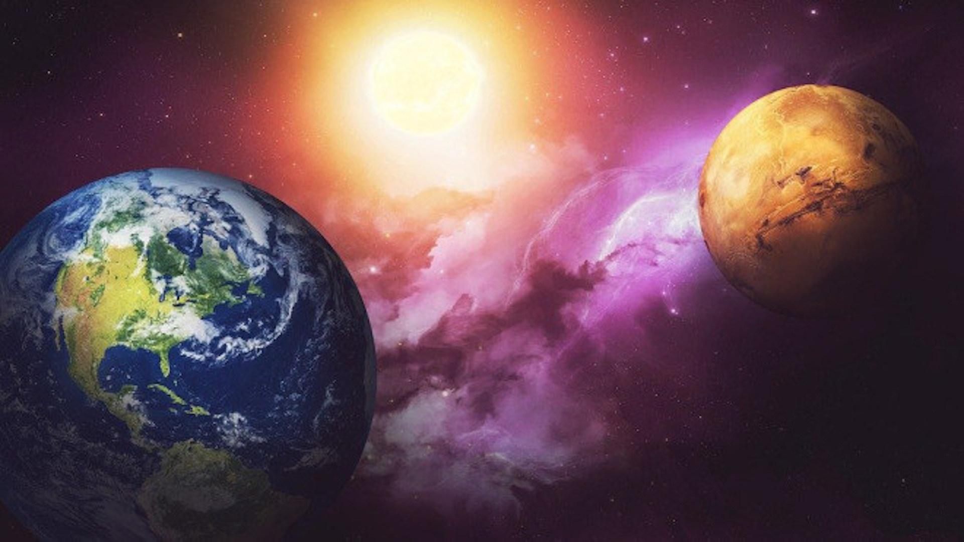 Mars, Erde, Planeten, Sonnensystem