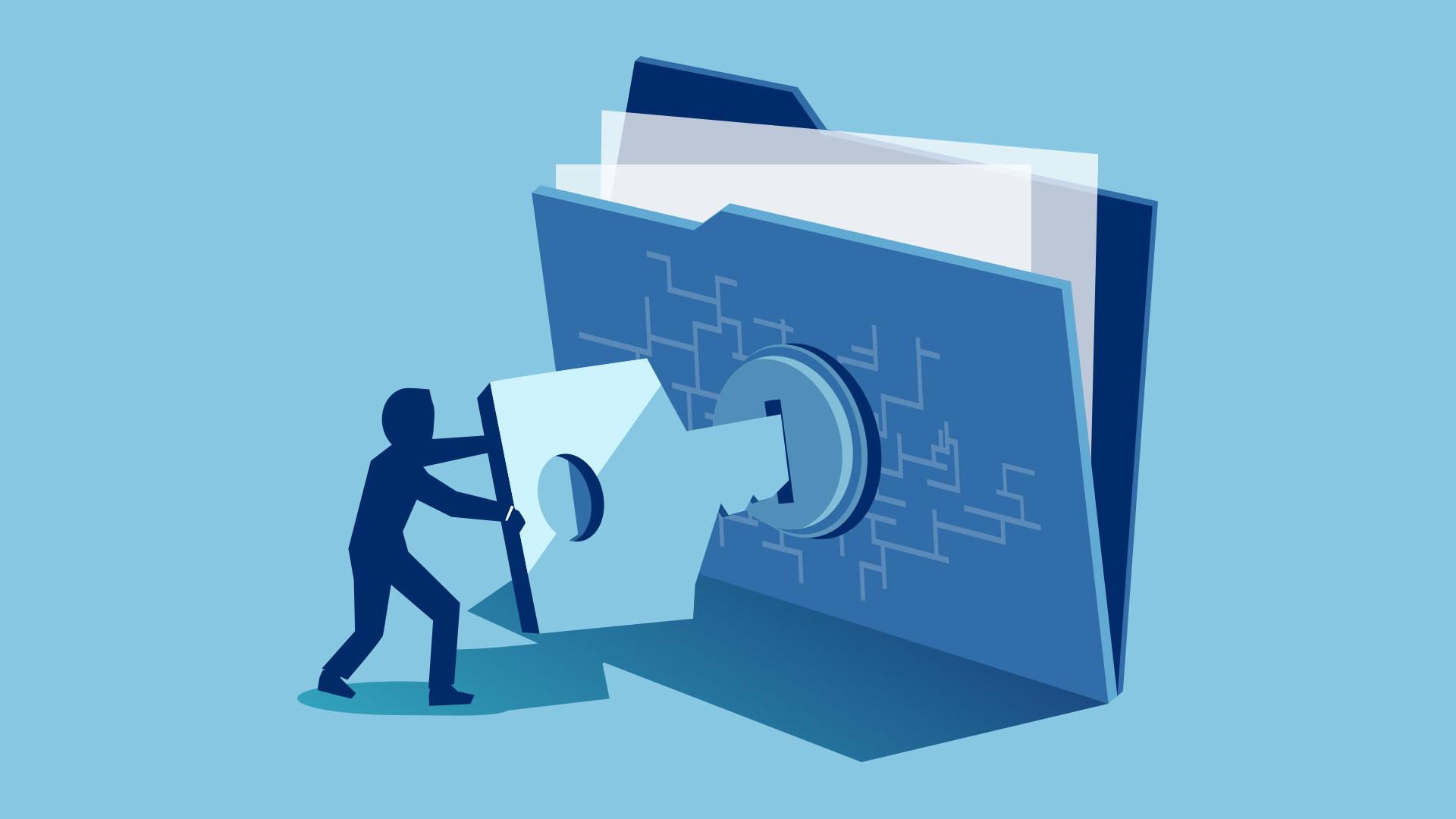 Sicherheit, Datenschutz, Privatsphäre, Verschlüsselung, Kryptographie, Schlüssel, Ende-zu-Ende-Verschlüsselung, schloss, Absicherung, Ordner, Verschlüsselungssoftware, Öffnen