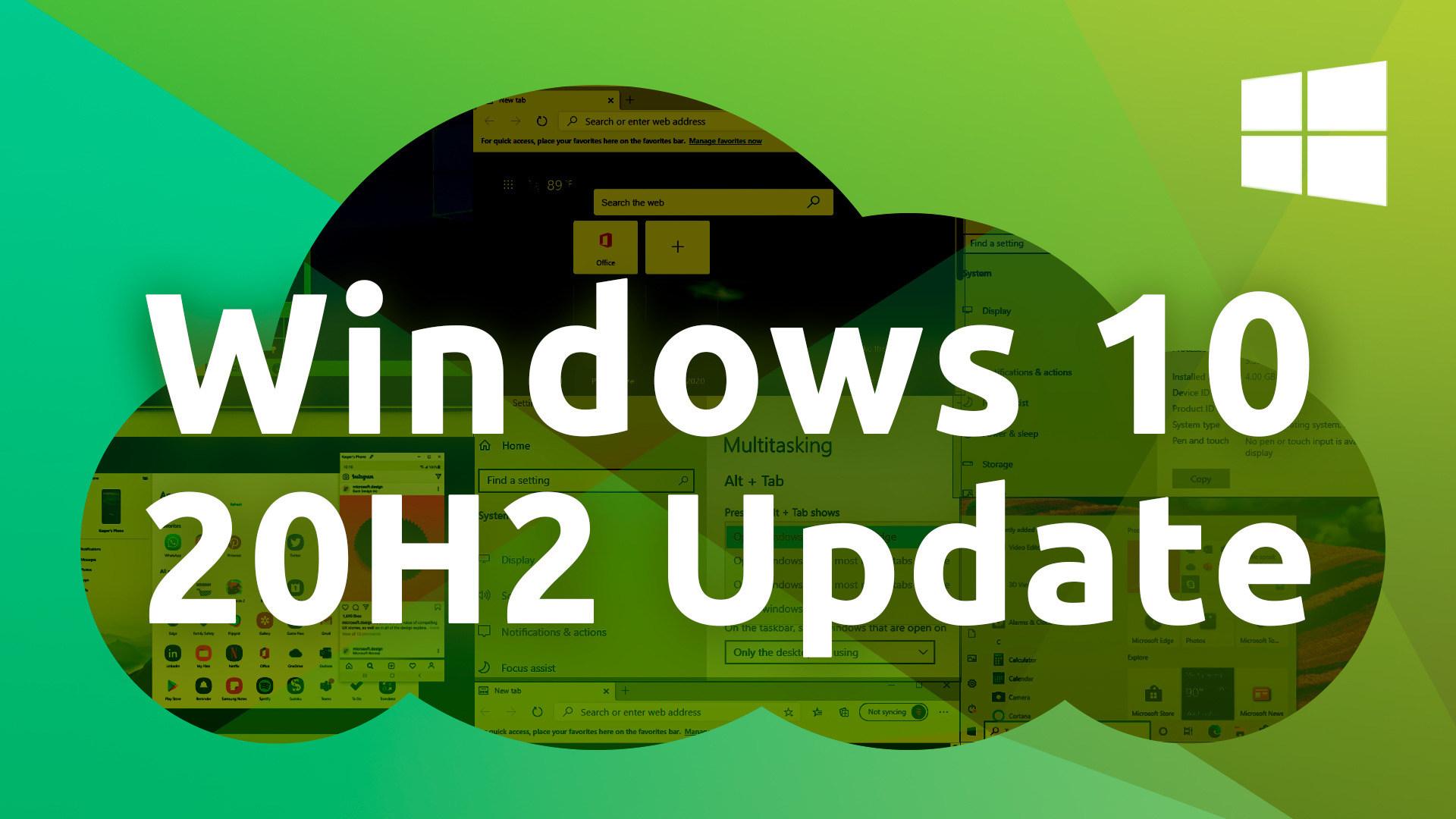 Microsoft, Betriebssystem, Windows 10, Update, 20h2, Windows 10 Oktober Update, Windows 10 Update, Windows 10 Herbst Update, Herbst, Windows 10 20H2, Windows 10 Fall Update, Herbst Update, Windows 10 Oktober 2020 Update, Windows 10 20H2 Update, Windows 10 Oktober 2020, Windows Cloud