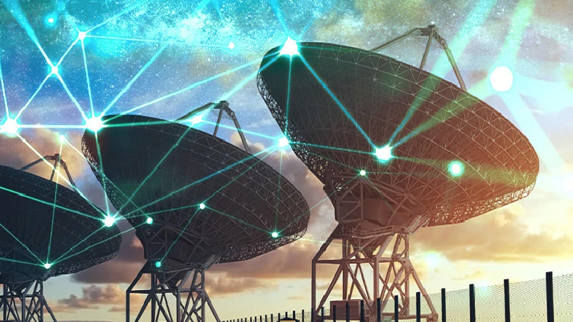 Internet, Daten, Netzwerk, Weltraum, Navigation, Satellit, Datenübertragung, Traffic, Funk, Telekommunikation, Gps, Teleskop, Satelliten, Vernetzung, Radioteleskop, Geodaten, Location, Satelliten Internet, Location-Tracking, Space, Geolocation, Wüste, Satellitennavigation, Satellitenschüssel, Weltraumteleskop, Telescope, Very Large Telescope, Infrarotteleskop