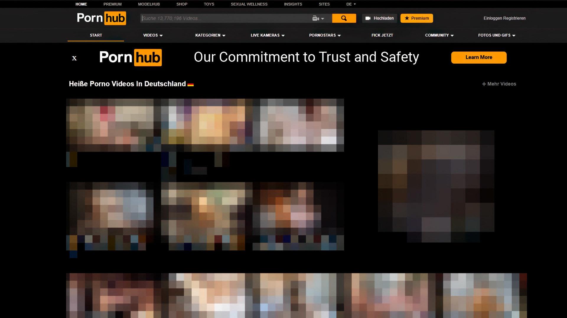 Porno, Pornographie, pornhub