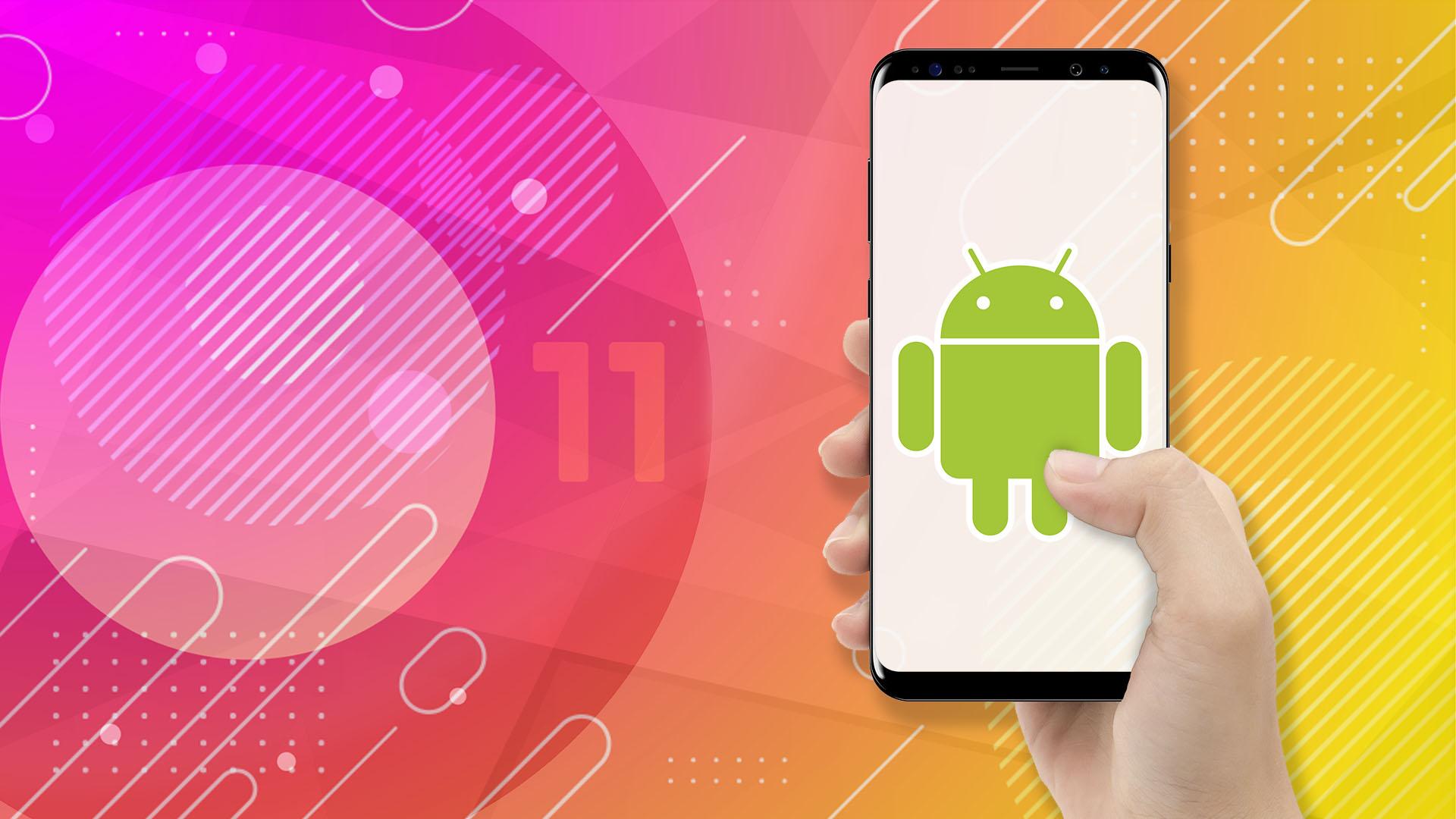 Smartphone, Betriebssystem, Google, Android, Google Android, Android 11, Android Logo, Bugdroid, Android Figur, Google Android 11, Android Männchen, Android 11 Beta