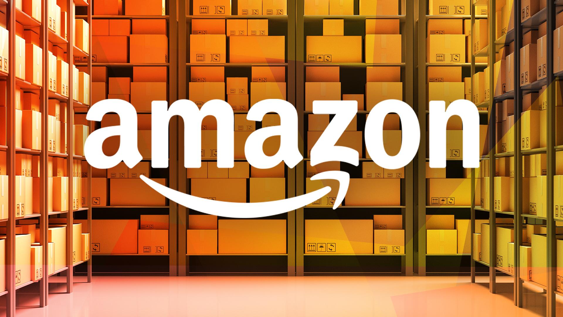 Amazon, shopping, E-Commerce, Logistik, Paket, Logistikzentrum, Pakete, Box, Amazon Logo, Paketdienst, Paketzusteller, Logistikunternehmen, Paketzentrum, Regal, Regale