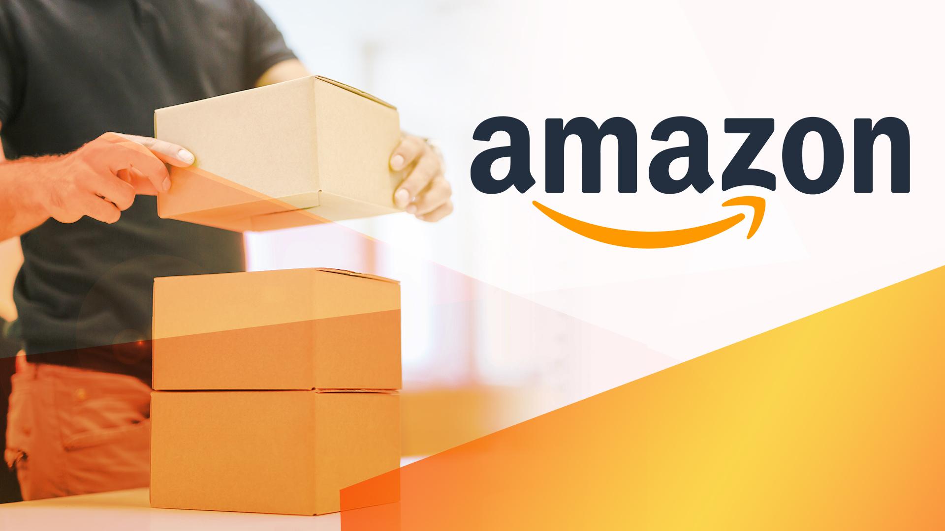 Amazon, E-Commerce, shopping, Logistik, Paket, Amazon Logo, Box, Pakete, Paketdienst, Paketzusteller, Postbote, Briefbote, Bote