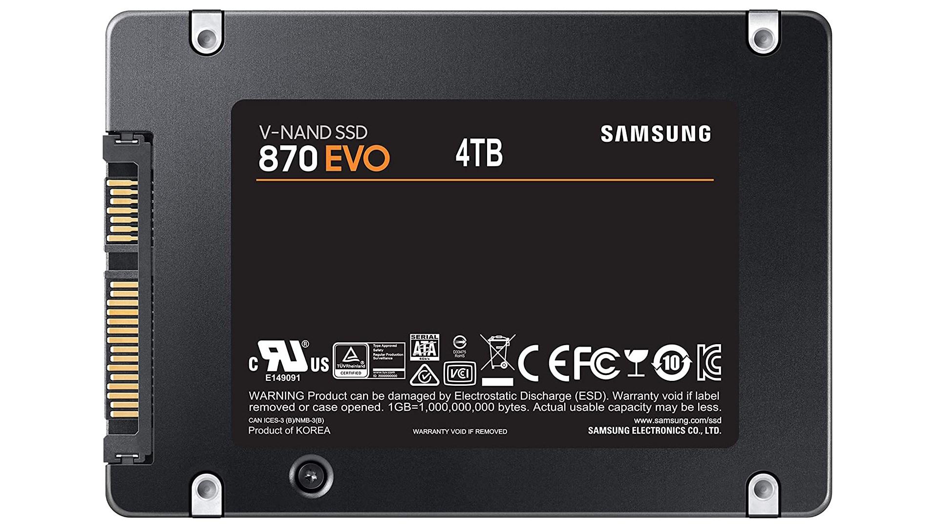 Samsung, Speicher, Ssd, Flash, Solid State Drive, Terabyte, Gigabyte, Speichermedien, Lesen, M.2, Sata, V-Nand, Schreiben, Übertragungsrate, Evo, Lesegeschwindigkeit, Schreibgeschwindigkeit, MLC, Samsung 870 EVO
