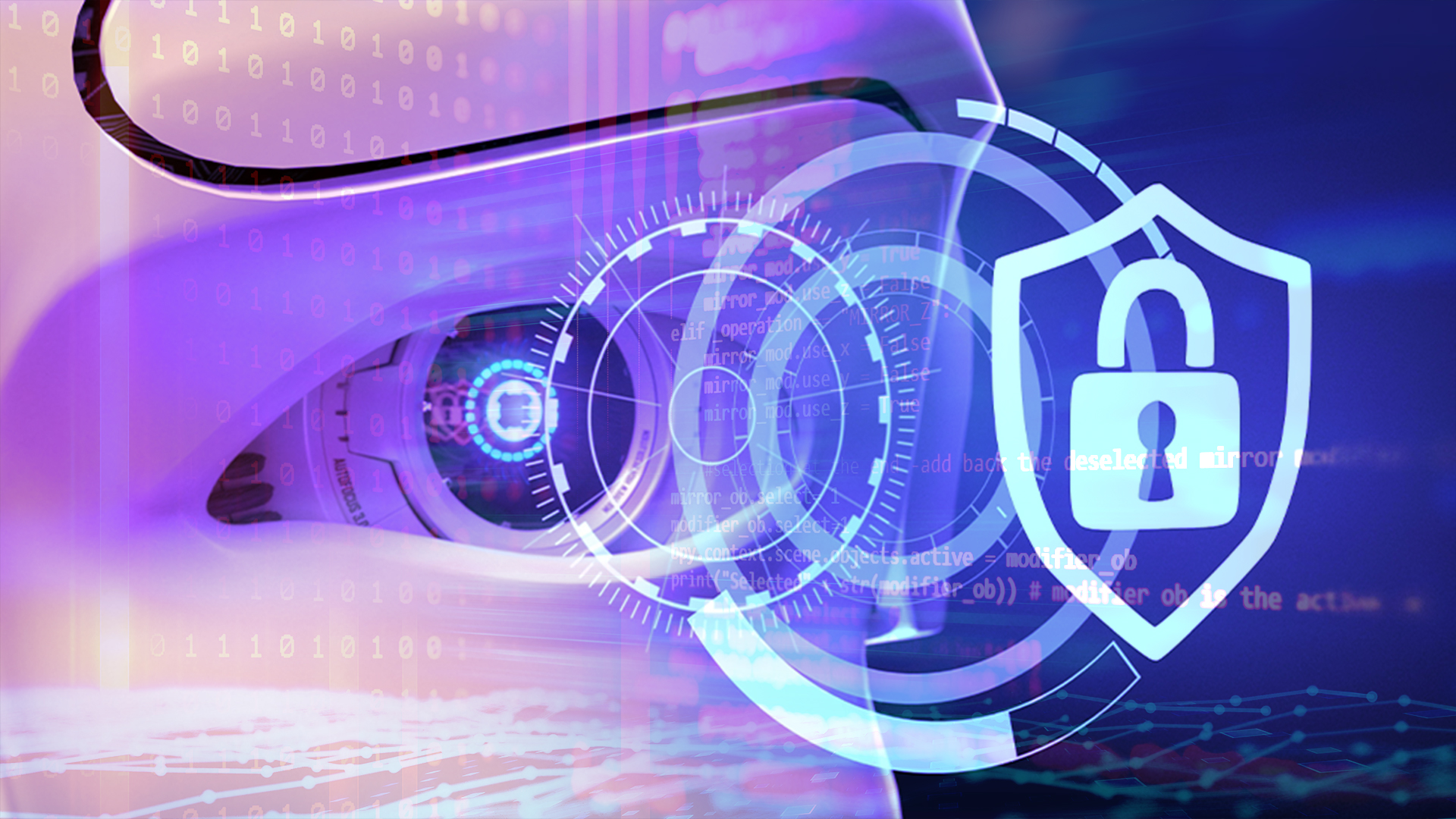 Sicherheit, Sicherheitslücke, Hacker, Security, Malware, Hack, Angriff, Virus, Kriminalität, Schadsoftware, Ki, Künstliche Intelligenz, Roboter, Exploit, Cybercrime, Cybersecurity, Hacking, Hackerangriff, Internetkriminalität, AI, Hacken, Darknet, Hacker Angriff, Attack, Ransom, Artificial Intelligence, Auge, Roboterauge