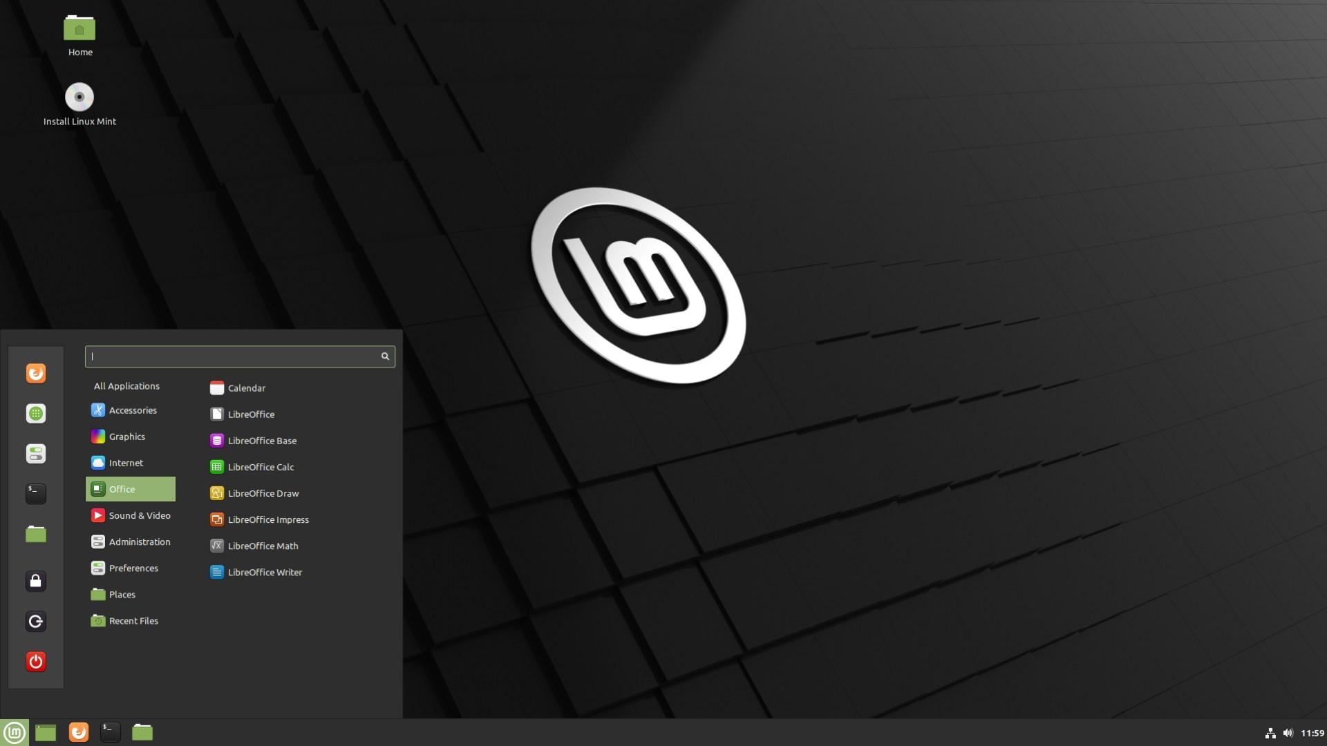 Betriebssystem, Desktop, Linux, Mint, Cinnamon, Linux Mint 20.1
