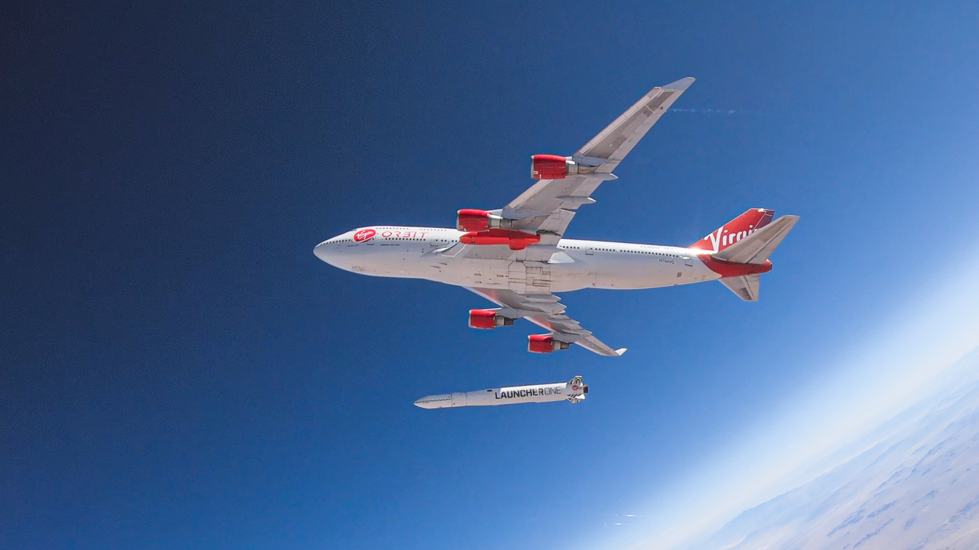 Weltraum, Raumfahrt, Rakete, Raketenstart, LauncherOne, Virgin Orbit