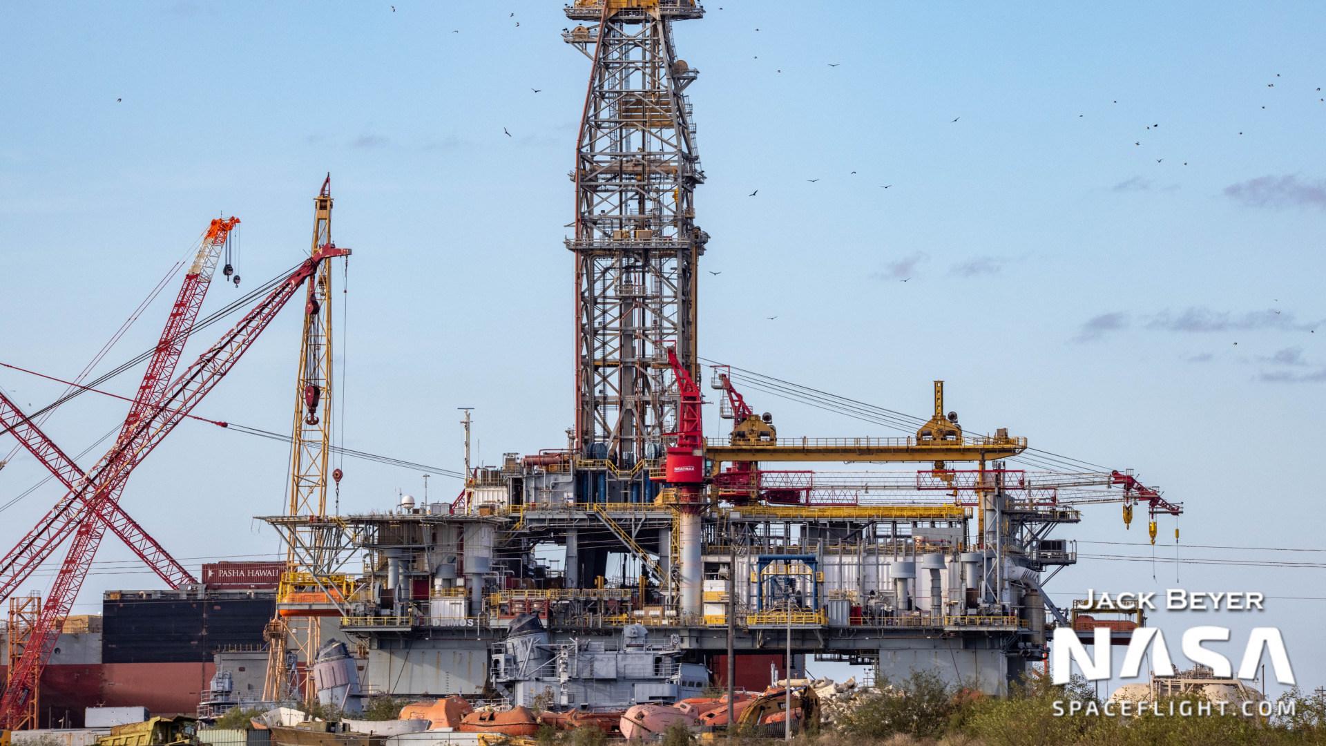 Spacex, Deimos, Ölplattform, Weltraumhafen, Ölbohrer