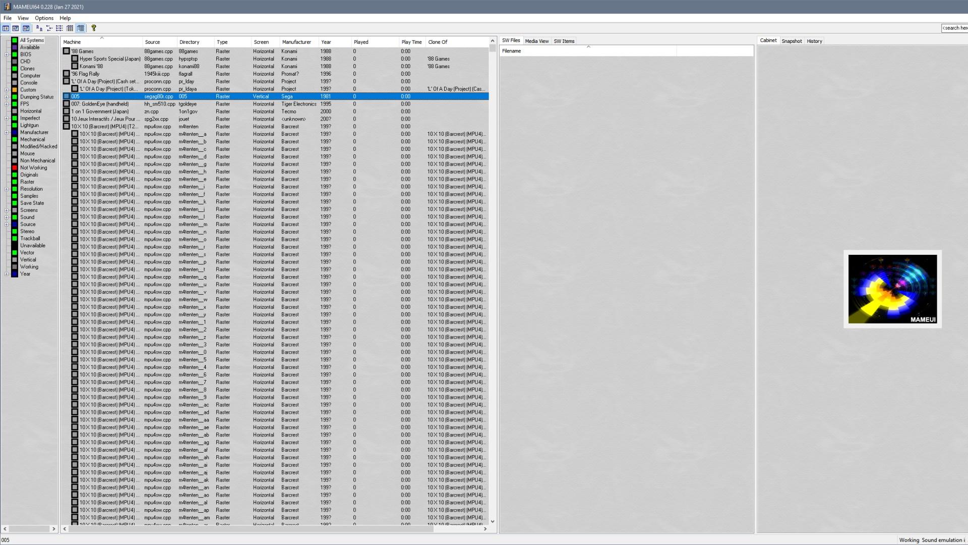 Emulator, Arcade, MAMEUI64, MAME