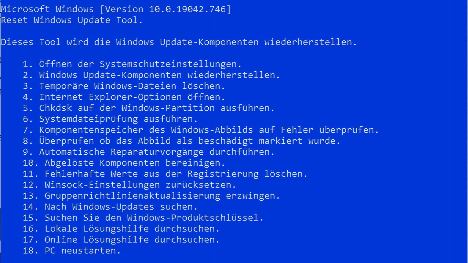 Reset Windows Update Tool Download - Updates reparieren