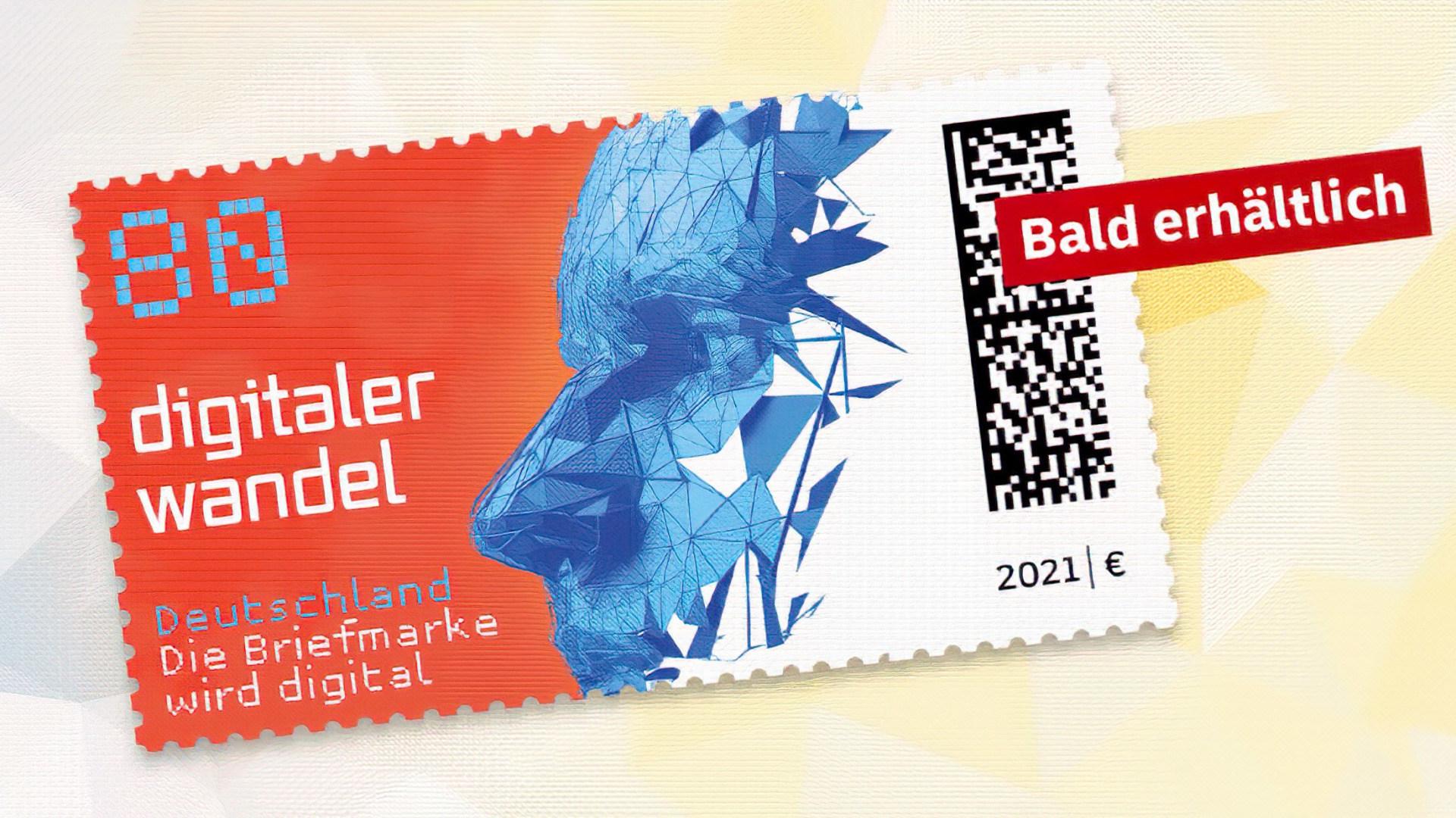Post, Digitalisierung, Deutsche Post, Briefmarke, Matrixcode