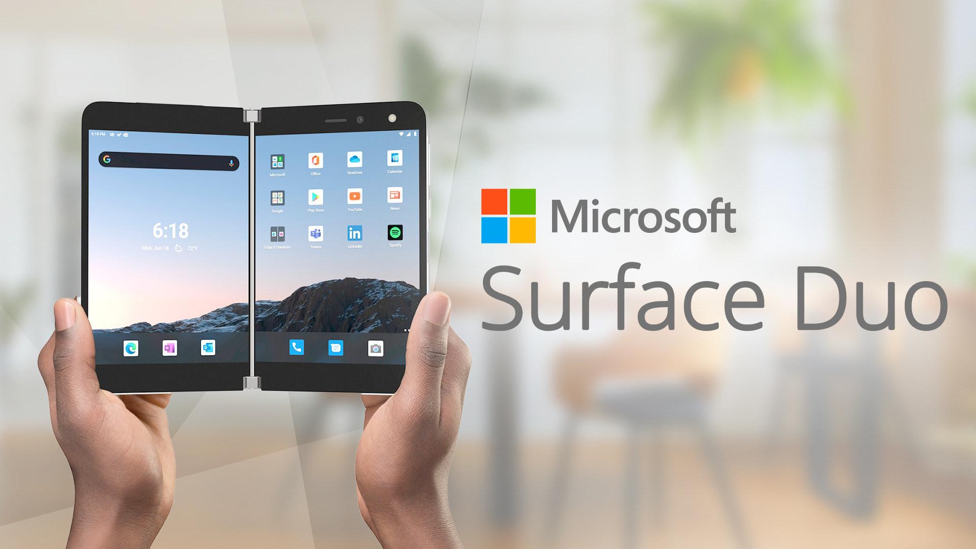 Microsoft Surface, Surface Duo, Microsoft Surface Duo, Duo, Dual-Bildschirm