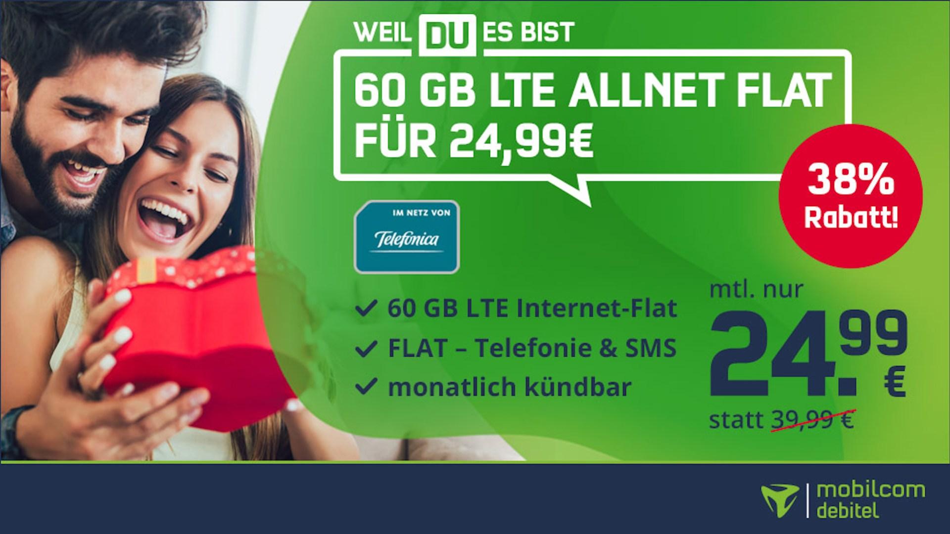 Tarif, Aktion, Rabatt, Telefonica, Mobilcom-Debitel