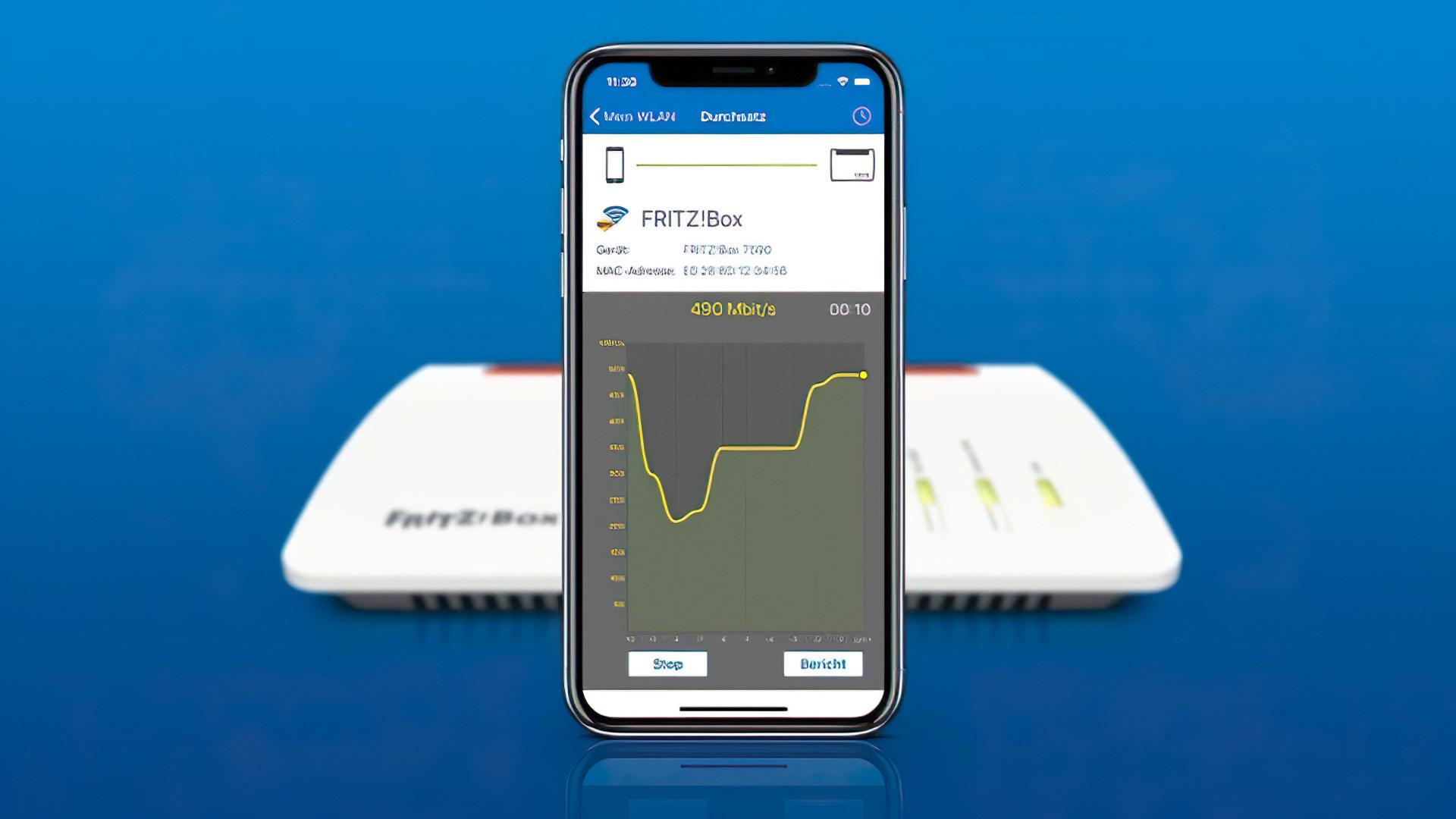 Neu: FritzApp WLAN bestimmt Ping der WLAN-Verbindung des Handys