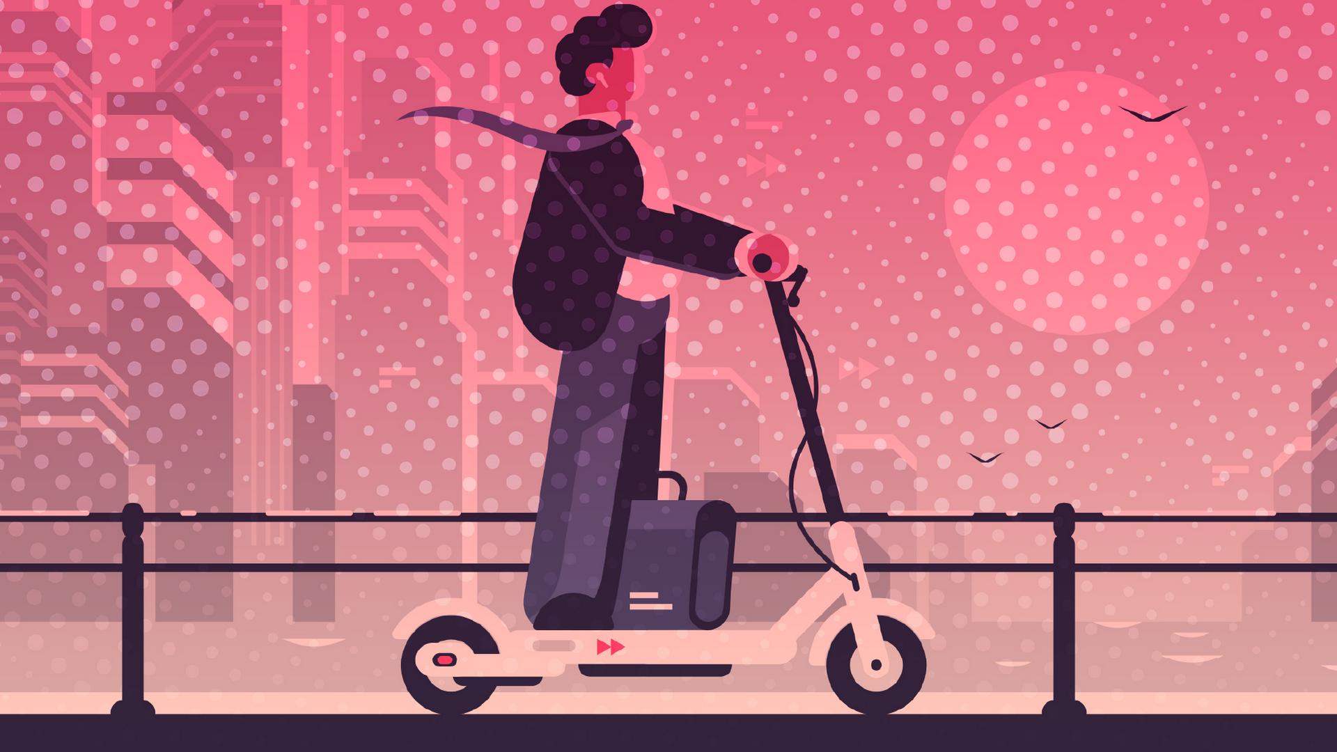 Elektromobilität, Straßenverkehr, E-Scooter, E-Roller, Roller, Elektrofahrzeug, Scooter, E-Mobilität, Elektroroller, Mobilität, Mobility, Personal Transport, tretroller, Elektroscooter, Elektro-Tretroller