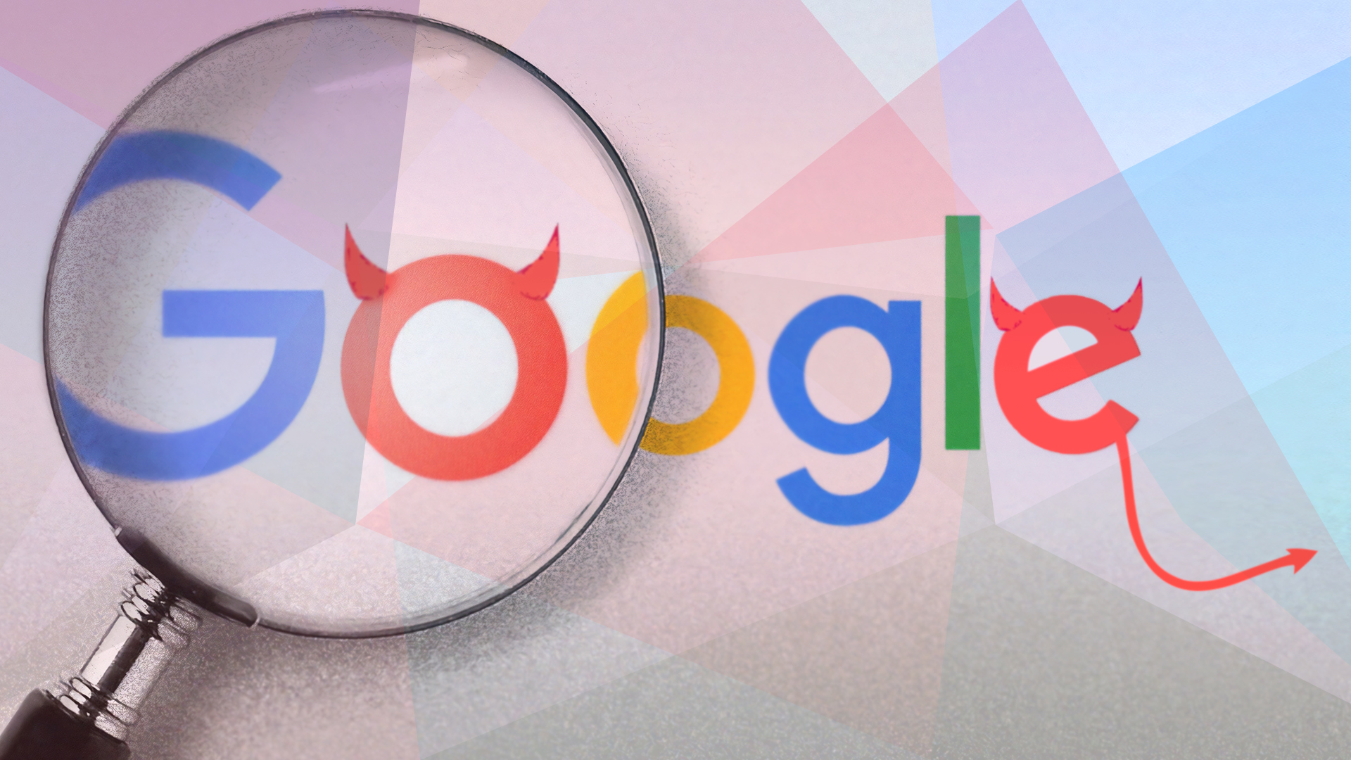 Google, Suchmaschine, Suche, Google Logo, Do No Evil, Google Evil, Böses Google